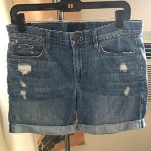 Vince denim boyfriend shorts